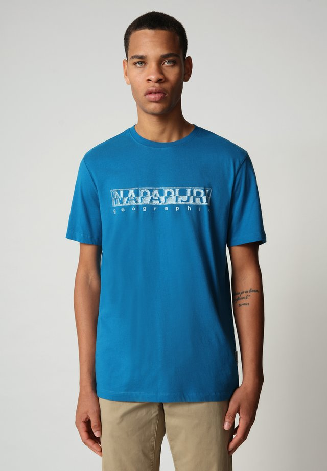 SALLAR - T-shirt print - mykonos blue