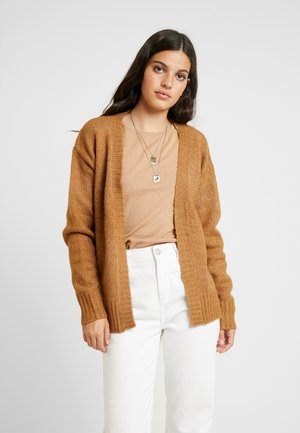 EXCLSUIVE ELLIE CARDIGAN - Kardigan - toasted coconut