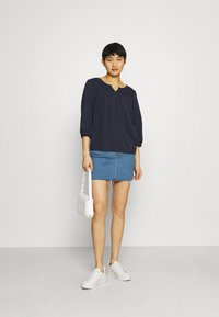 Esprit - FAB MIX TEE - Bluzka z długim rękawem - dark blue - 1