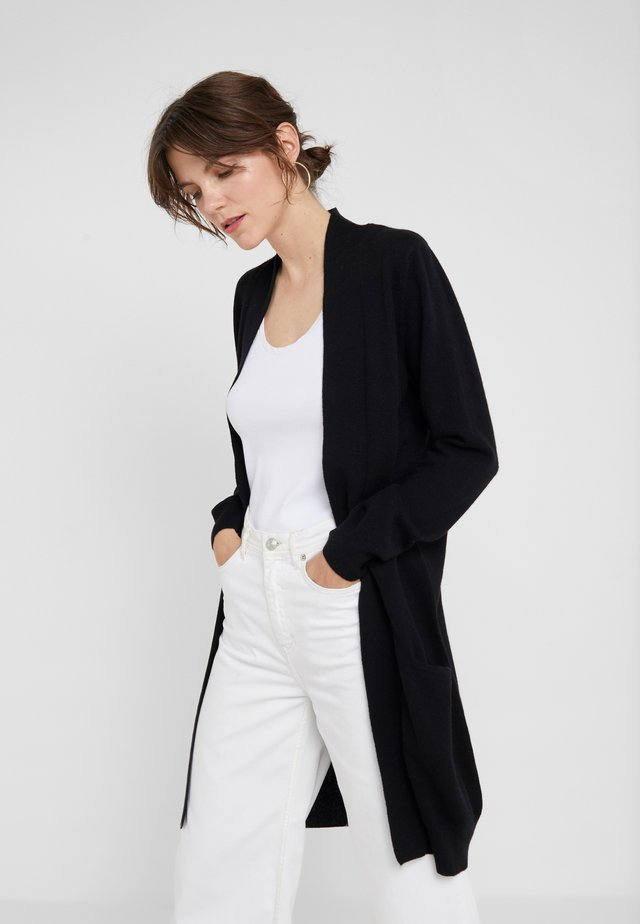 POCKET LONG - Cardigan - black