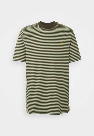 ARCHIVE STRIPE RELAXED FIT - T-shirt med print - moss