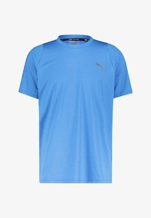 "PUMA HERREN TRAININGSSHIRT ""POWER THERMO"" KURZARM - T-shirt med print - blue"