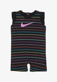 Nike Sportswear - RETRO STRIPE ROMPER BABY - Jumpsuit - black/fire pink - 2