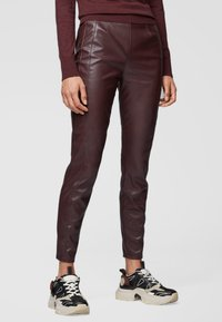BOSS - Leggings - Trousers - dark red - 0