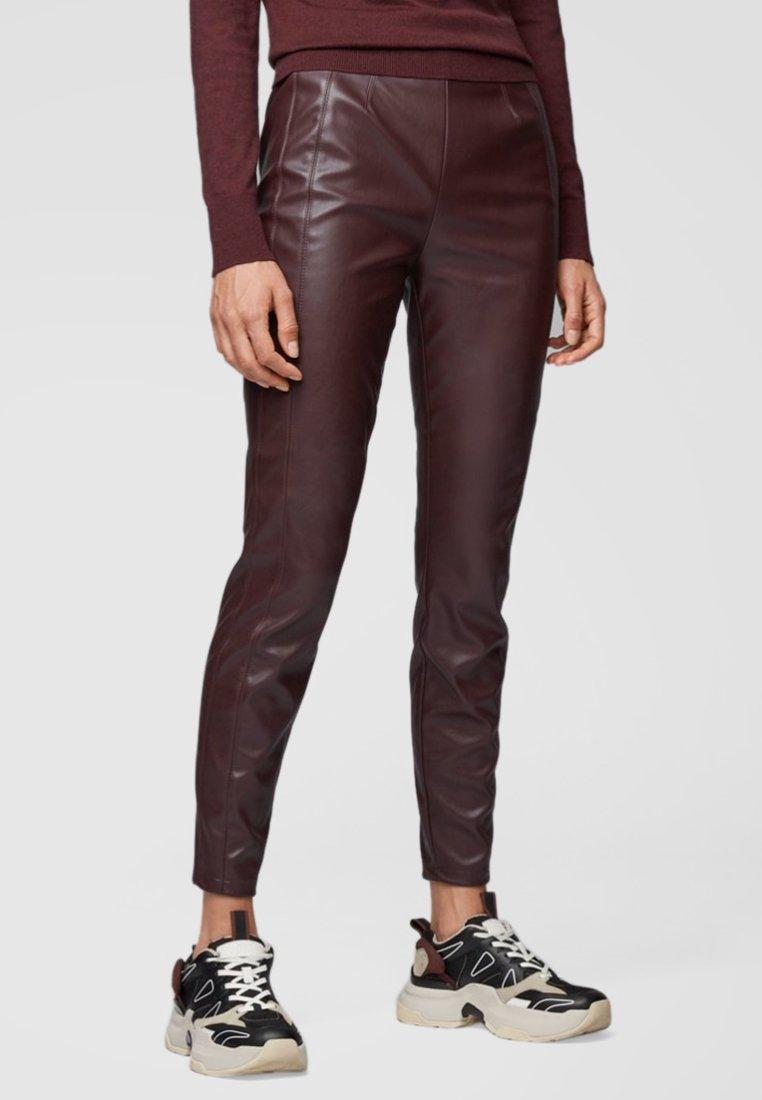 BOSS - Leggings - Trousers - dark red