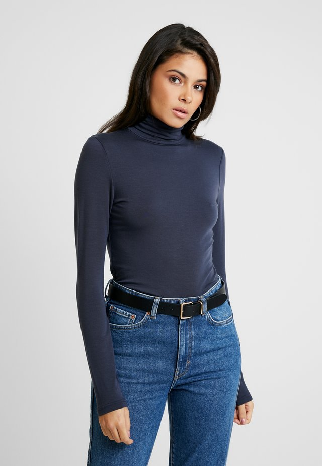 COCO ROLL NECK - Long sleeved top - mood indigo