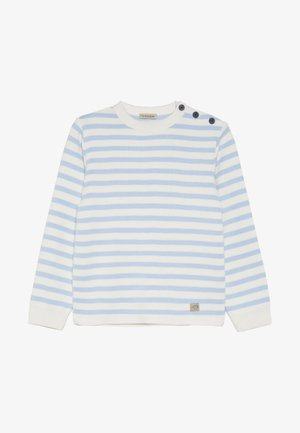 PULL MARIN RAYÉ FOUESNANT - Jumper - light blue/nature