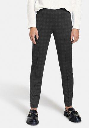 MIT SCHATTENKARO - Trousers - anthra/schwarz