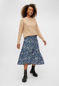 Pieces - A-line skirt - maritime blue - 1