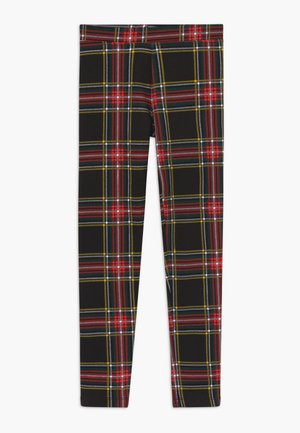 STEWART PLAID - Leggings - black/red/green