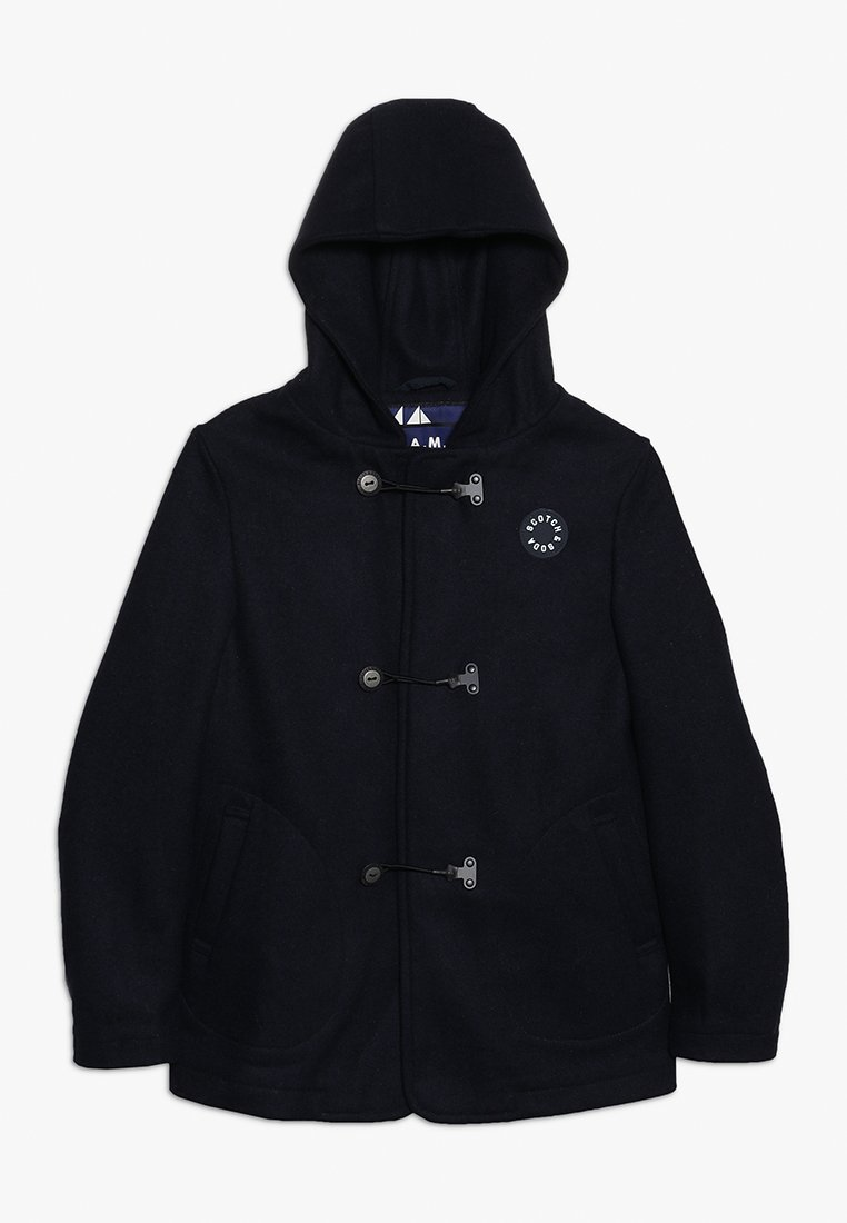 Scotch & Soda - CLASSIC HOODED SINGLE BREASTED CABAN WITH TECHNICAL CLOSURE - Short coat - night