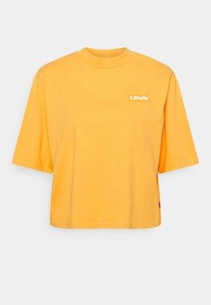 SHORT SLEEVE MOCKNECK - Print T-shirt - ochre