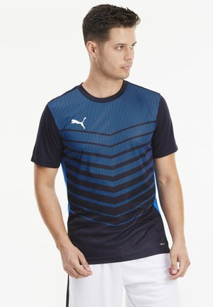 T-shirt de sport - navy-electric blue lemonade