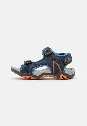 GOMERA  - Walking sandals - marine/blau/orange