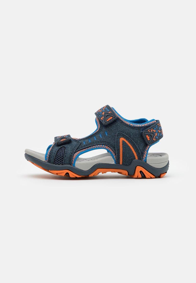 LICO - GOMERA  - Walking sandals - marine/blau/orange