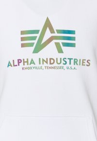 Alpha Industries - BASIC HOODY RAINBOW PRINT - Hoodie - white - 6