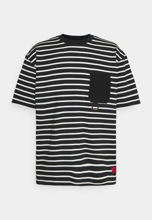 STRIPES TEE - T-shirt med print - black/cream