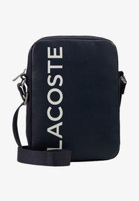 Lacoste - VERTICAL CAMERA BAG - Across body bag - dark sapphire - 6