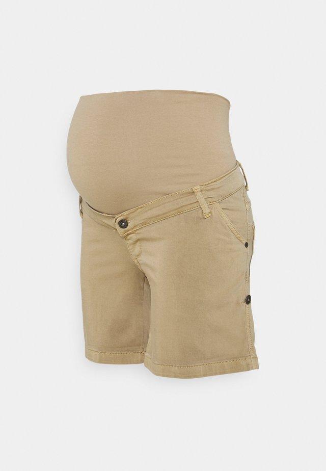 TURN UP - Shorts - khaki