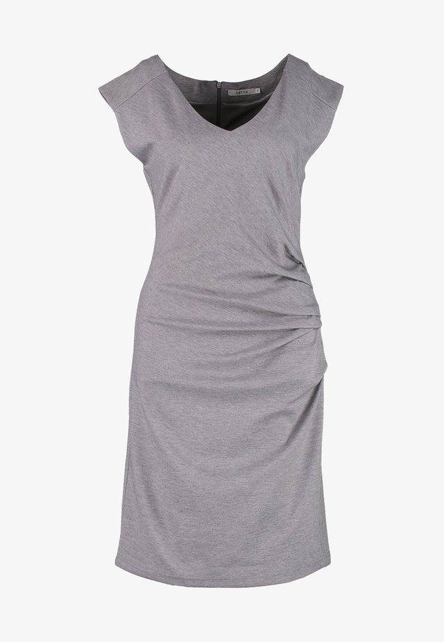 INDIA V NECK DRESS - Shift dress - grey melange