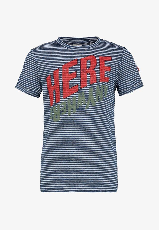YALEX - Basic T-shirt - navy/white