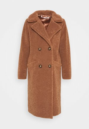 COAT LONG - Classic coat - cinnamon