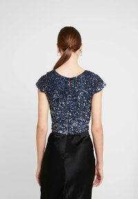 Lace & Beads - MERMAID - Bluse - navy/silver - 2