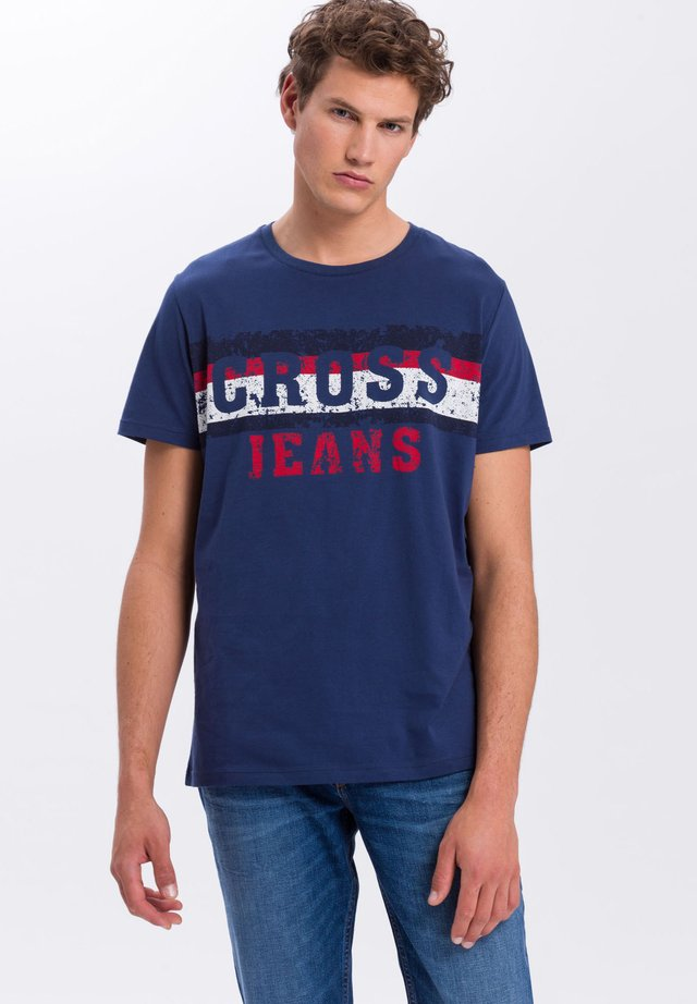 Print T-shirt - dark-indigo