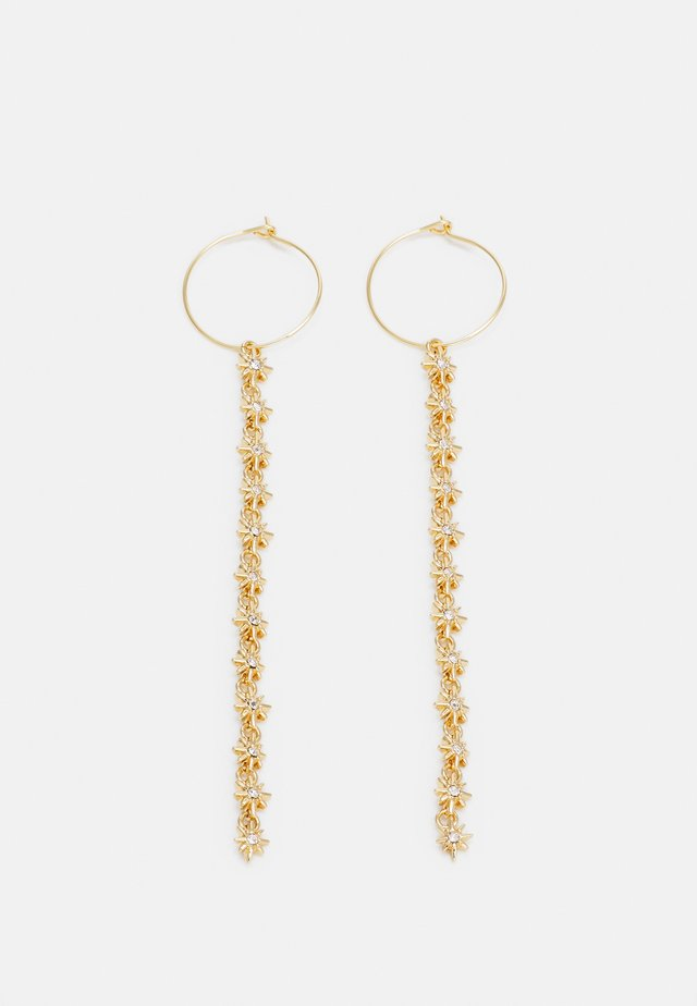STAR SHOULDER DUSTER HOOP - Earrings - gold-coloured