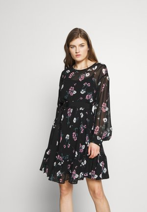 DELFINA - Robe d'été - black/multicolor