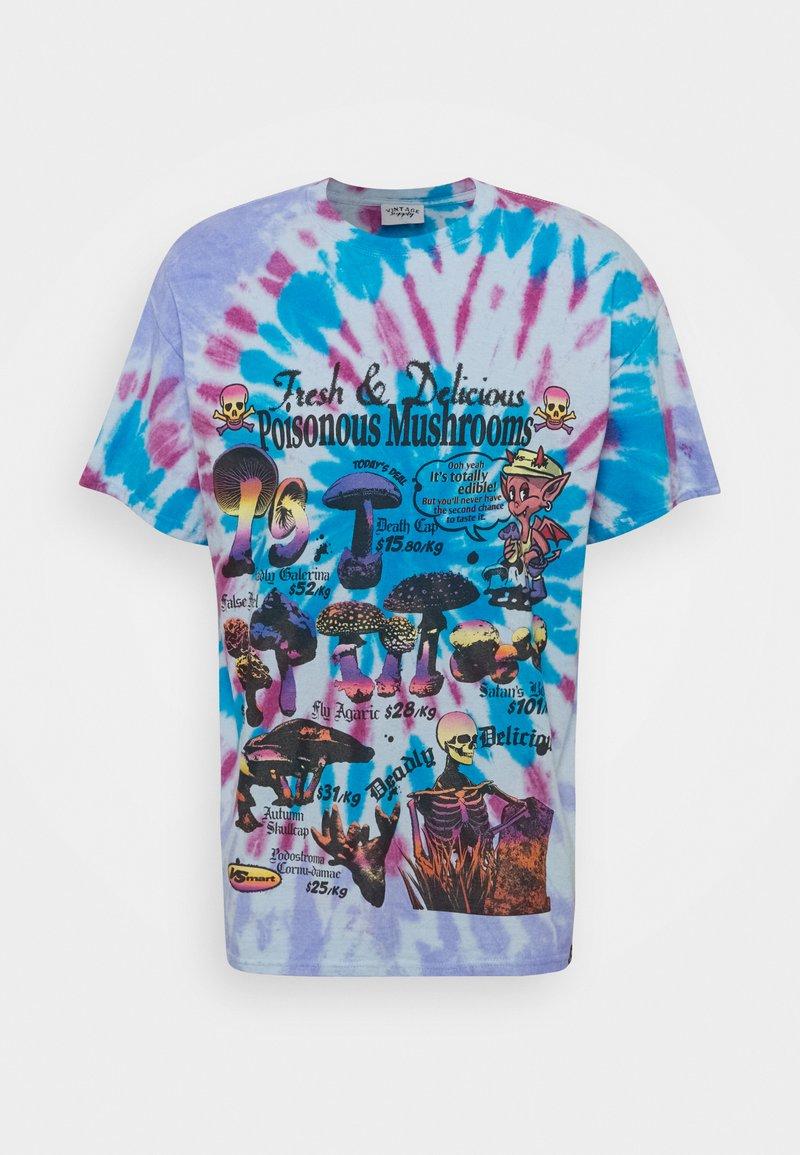 Vintage Supply - TIE DYE MUSHROOM TEE - Print T-shirt - blue