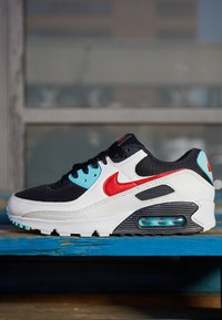 Nike Sportswear - AIR MAX 90 - Sneakers laag - summit white/chile red/bleached aqua/black