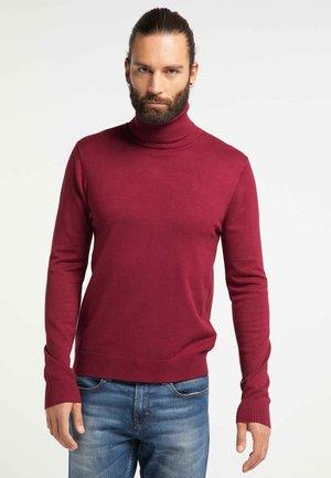 Stickad tröja - burgundy