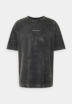 OVERSIZED GREY ACID  - Print T-shirt - grey