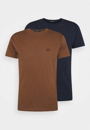 2 PACK - T-shirt basic - aviator blue/cigar