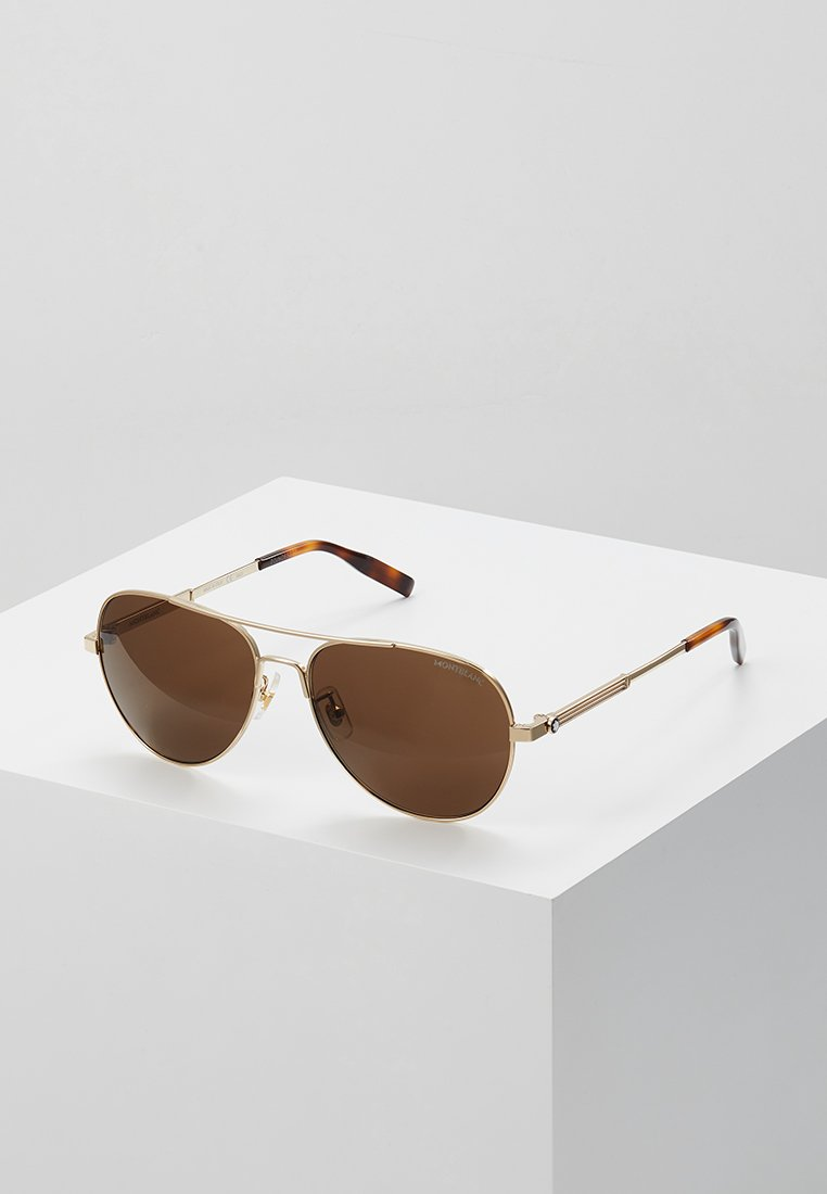 Mont Blanc - Sunglasses - gold-coloured/gold-brown