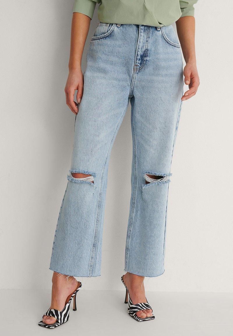 NA-KD - Straight leg jeans - light blue