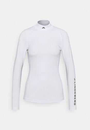 ÅSA PRINT SOFT COMPRESSION - T-shirt sportiva - white