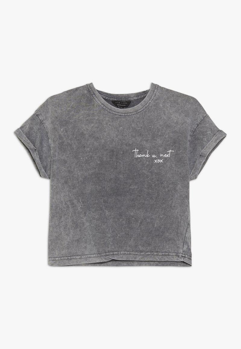 New Look 915 Generation - THANK U NEXT SLOGAN TEE  - Print T-shirt - dark grey