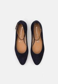 Tamaris - Ankle strap ballet pumps - navy - 5
