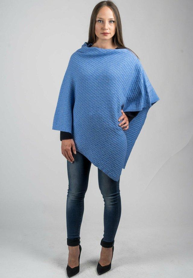 Poncho - azzurro