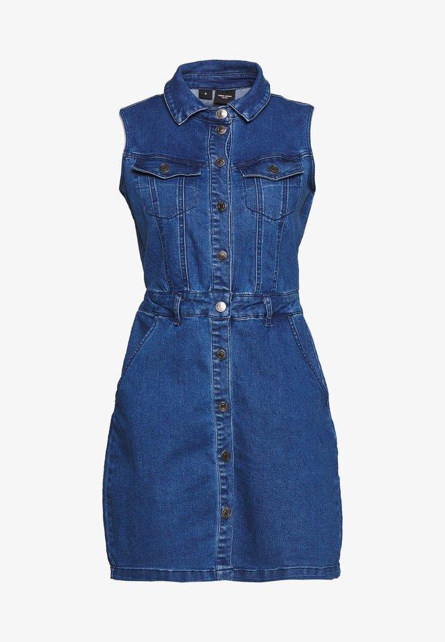 VMJULIE SHORT DRESS  - Denim dress - medium blue denim