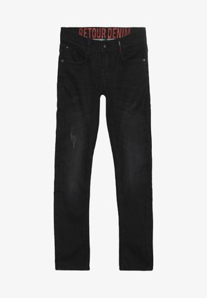 LUIGI - Straight leg jeans - black denim