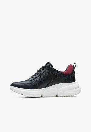 Sneakers laag - black combi leather