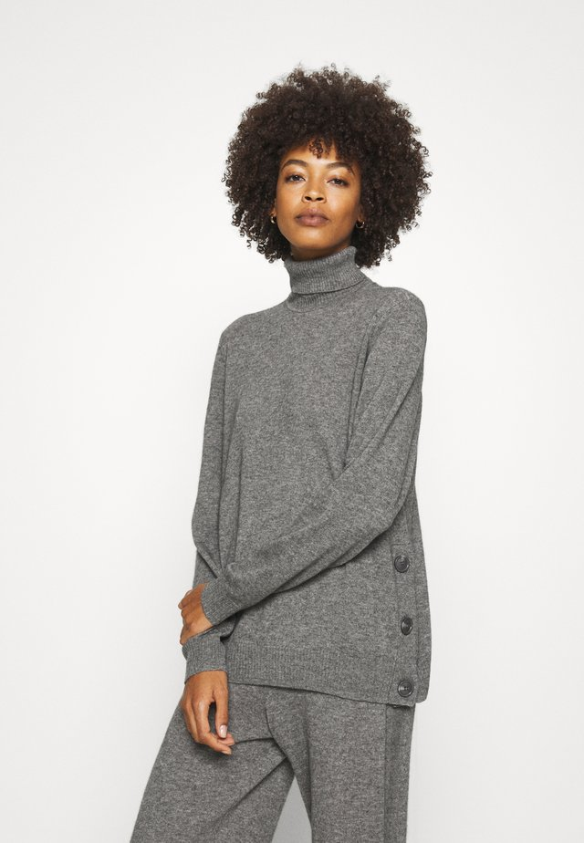 CUALLIE ROLLNECK - Sweter - grey melange