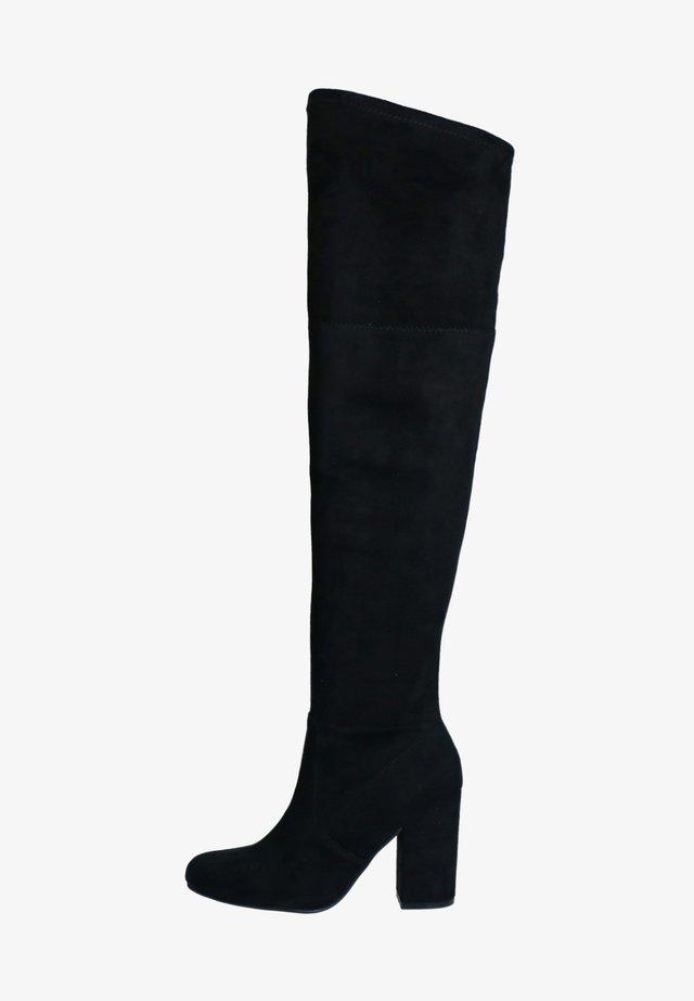 MIT RUNDER KAPPE - High heeled boots - schwarz