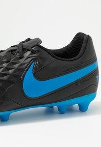 Nike Performance - TIEMPO LEGEND 8 CLUB FG/MG - Moulded stud football boots - black/blue hero - 5