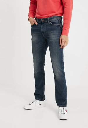 MARVIN - Straight leg jeans - mid stone wash denim blue