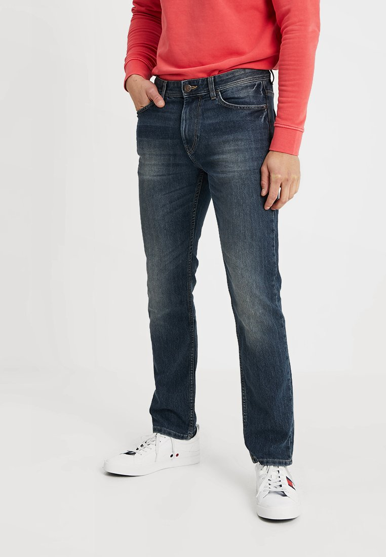 TOM TAILOR - MARVIN - Straight leg jeans - mid stone wash denim blue