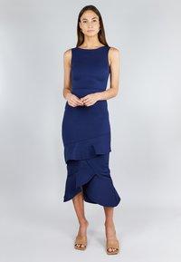 True Violet - FRILL LAYER  - Cocktail dress / Party dress - dark blue - 1